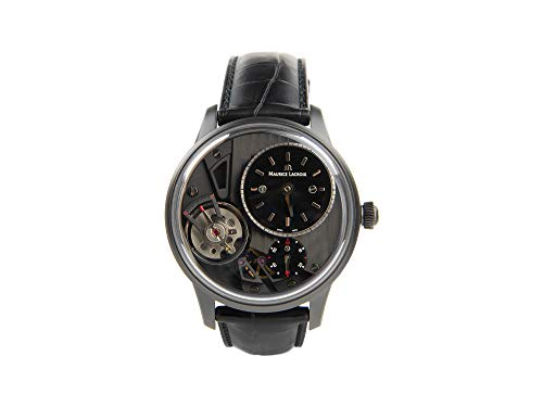 Maurice Lacroix Masterpiece Gravity Limited Automatik Uhr, PVD, Crocodileband