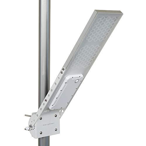 """Luz solar de montaje en poste HEX 1600X/ Farola solar de iluminación de ambiente (luz LED cálida), 3 niveles de intensidad, batería de litio, se ajusta a un diámetro máximo de poste de 3.0"""""""