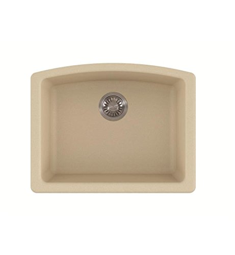 Franke ELG11022VAN Ellipse Granite Undermount Single Bowl Kitchen Sink, Vanilla