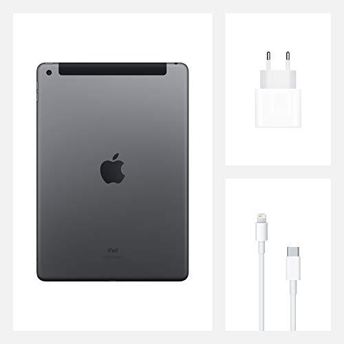2020 Apple iPad (10,2, Wi-Fi + Cellular, 128GB) - Space Grau (8. Generation)