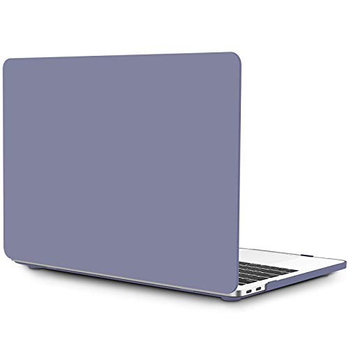 OneGET MacBook Pro13Inch Case with Touch Bar Laptop Case MacBook Pro13 Inch 2016-2019 Release A1989 A1706 A1708 A2159 Cream Color Series Matte Plastic Cover for MacBook Pro13 Retina Lavender Grey