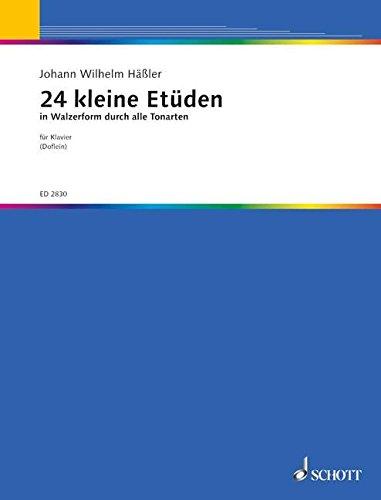 24 kleine Etüden in Walzerform: durch alle Tonarten. Klavier.