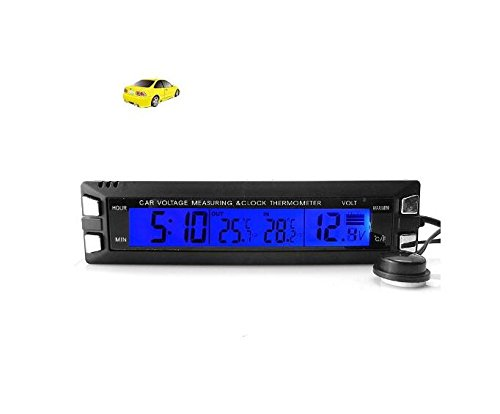 BW® Digital LCD-Display Auto Uhr mit Thermometer//Spannung Monitor mit Ice Alert