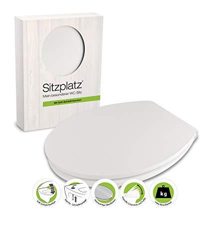 Zitplaat, 40671 0, wc-bril, soft touch, in wit, wc-bril met softclose-sluitmechanisme, toiletbril met houten kern en Fast-Fix snelbevestiging & Soft Touch - ongevoelig oppervlak