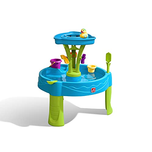 Step2 Summer Showers Splash Table d'eau avec 8 Accessoires | Table de Jeu Enfant a Eau | Table d'activité / Jouet pour Le Jardin