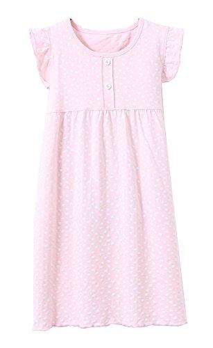 ABClothing Mädchen Herz Pyjamas PJS Shortie Kleid langes Hemd 10-12 Rosa