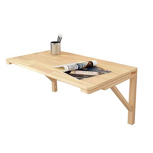 ZND Einfache Idee Wandtisch Einfache Idee Laptopständer für Schreibtisch Küchenregal Esstisch Platzsparend, 12 Größen, Holzfarbe, 120X40CM