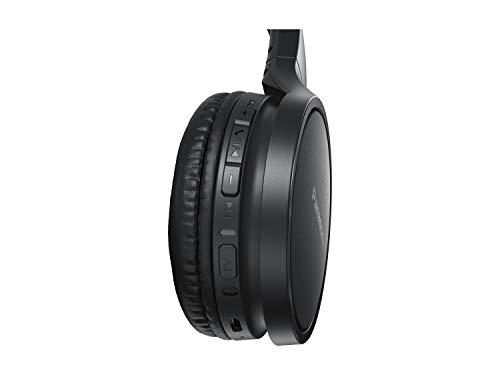 Panasonic RP-HF410BE-K Bluetooth Kopfhörer (24 h Akkulaufzeit, Quick-Charge, Sprachsteuerung, On-Ear, leichte Kopfhörer faltbar) schwarz
