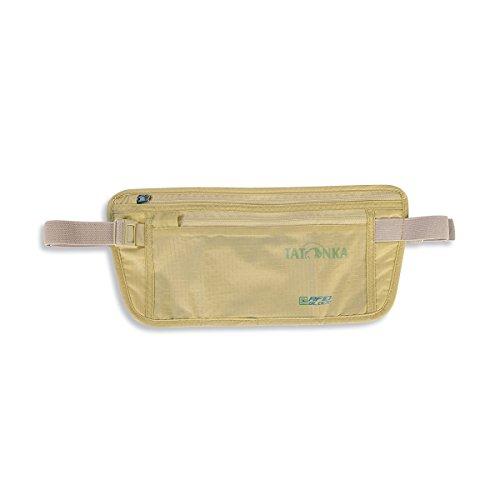 Tatonka Hüfttasche Skin Moneybelt Int. RFID B - flache Bauchtasche mit TÜV-zertifizierter RFID-Blockierung und zwei Reißverschluss-Fächern - für Frauen und Männer - beige