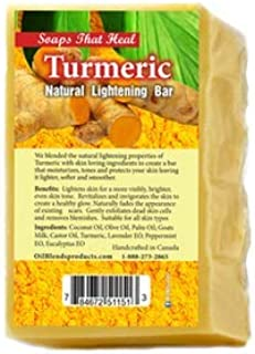 Soaps That Heal - Turmeric Natural Lightening Bar - For Normal and Problem Skin - Natural & Organic, Made with Effective Traditional Plant Based Ingredients