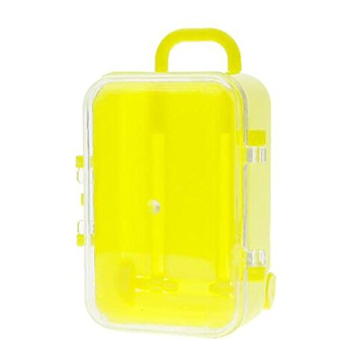 Nesee Candy Toy,Mini Rolling Travel Suitcase Box Wedding Favors Party Reception Candy Toy (Yellow)