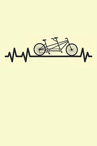 Pulso de bicicleta tándem: Bicycle Heartbeat Cyclist regalos portátil alineado (formato A5, 15. 24 x 22. 86 cm, 120 páginas)
