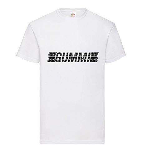 Reifen Gummi Männer T-Shirt Weiß 3XL - shirt84.de