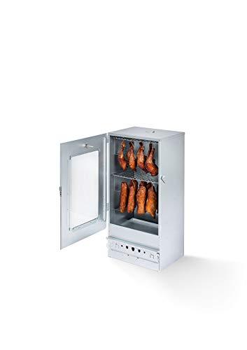 KAISER COMPANY '50' Hochwertiger Halter/Raucher aus verzinktem Blech - Holzofen I Tragbare Räucherei 80 cm I Ideal zum Rauchen I Anpassung von bis zu 10 kg Fleisch I mit Zubehör