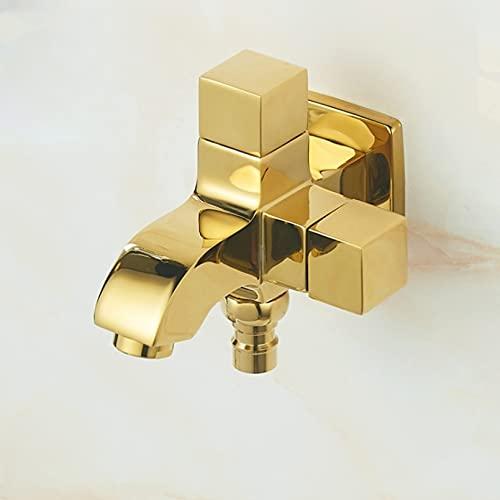 Grifo de cobre negro/dorado/plateado de doble uso grifo de fregadero de fregadero de agua doble grifo de interruptor doble