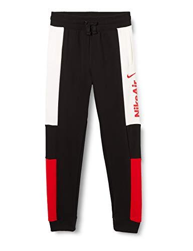 Nike Jungen Air Jogginghose, Black/White/University Red, M