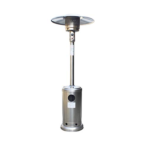 YILANJUN Calefactor de Terraza de Sombrilla | Tres Ajustables | Gas Natural/Gas Licuado | Calentador de Patio | para Terraza, Exterior, Oficina, etc.