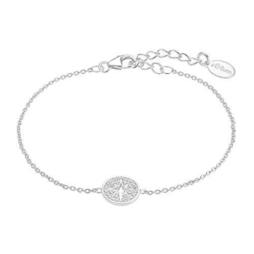 s.Oliver Pulsera para mujer de plata 925 con circonitas | Estrella