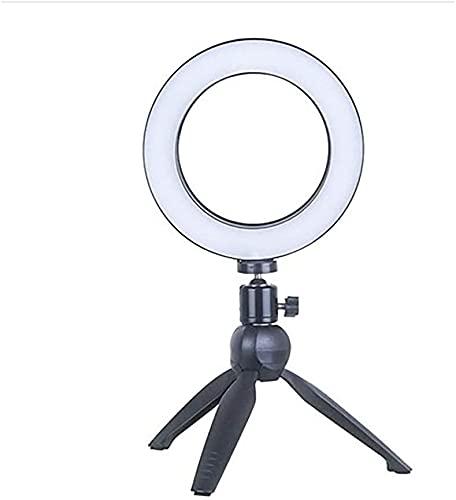 Aro de luz Bracket, Anillo de Luz Trípode LED, 3 Modos Luz + 10 Niveles Brillo Regulables, para Movil TIK Tok, Maquillaje, Selfie, Streaming, Youtube