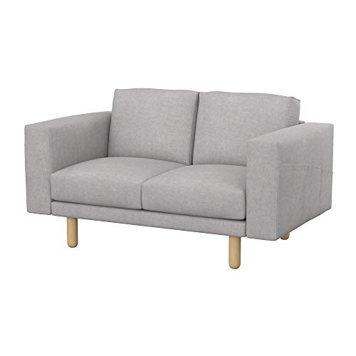 Soferia Bezug fur IKEA NORSBORG 2er-Sofa, Stoff Softi Light Grey