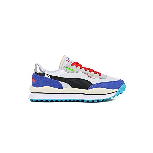 Puma Style Rider Ride On 372839-01 (42 EU, Wht/BLU/Red)