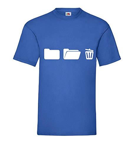 Ordner mit Papierkorb auf Computer Männer T-Shirt Royal Blau 3XL - shirt84.de