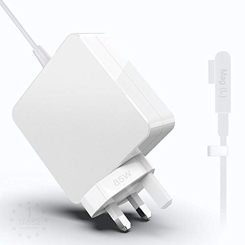 Mac Book Pro Charger 85W L-Tip Power Adapter Charger Cord for Mac Book Pro 13 15 and 17 inch Connector Charger Replacement(Before Mid 2012 Models), Works With 45W/60W/85W