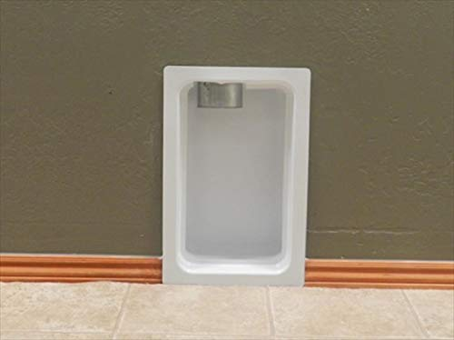 Dryer Box Vent Box Metal White with Trim Ring for 2x4 Wall