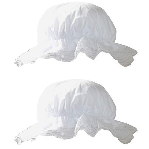 2 Schlafmützen mit Spitze Zipfelmütze Nachtkappe Schlafmütze Junggesellinnenenabschied Nachthaube