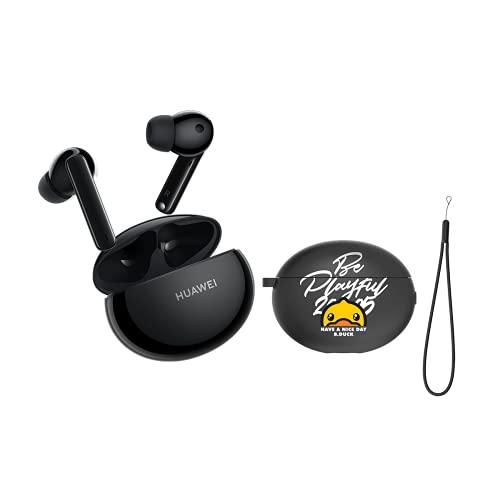HUAWEI FreeBuds 4i + Black Case, kabellose Kopfhörer mit Dual-Mikrofon, Geräuschunterdrückung, schnelles Aufladen, Lange Akkulaufzeit, Sound.