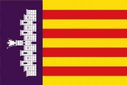 Spanje Mallorca, en de stad Palma Vlag 150cm x 90cm