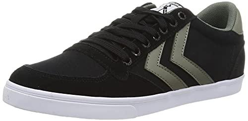 hummel Unisex Slimmer Stadil Low Sneaker, Black, 45 EU
