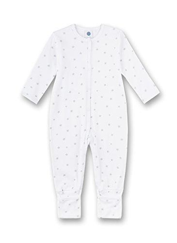Sanetta Sanetta Unisex Baby Overall Schlafstrampler, Grau (Hellgrau Melange 1646.0), 74