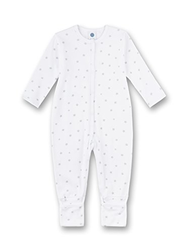 Sanetta Unisex Baby Overall Schlafstrampler, Grau (Hellgrau Melange 1646.0), 68