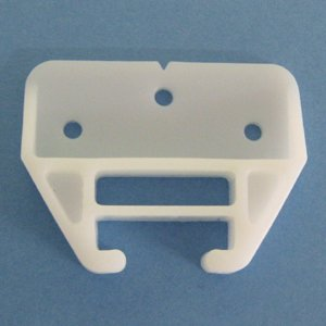 Plastic Drawer Guides with Screws (6 Pack) - Center Mount Dresser Drawer Guide Brackets