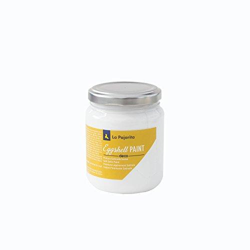 La Pajarita 107037 Pintura para Decoración y DIY, Eggshell, 1, Blanco (Fresh Light)