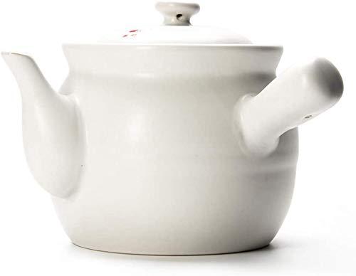 MJMJ Kasserolle Auflauf Hitzebeständiger Crockpot Slow Cooker, Natürliche, Nachhaltige Hot Pot-Auflaufform Zum Kochen, Premium-Keramikauflauf Mit Deckelweiß Auflaufform