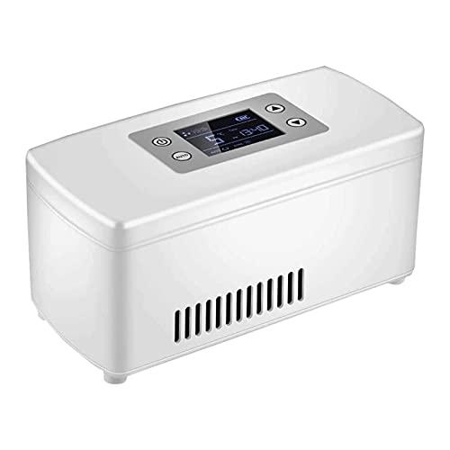 SHUHANG Insulina portátil refrigerador Recargable Mini refrigerador de refrigerador hogareño de Viaje Medicina refrigeradora (Color : White, Size : 210x106x95mm)