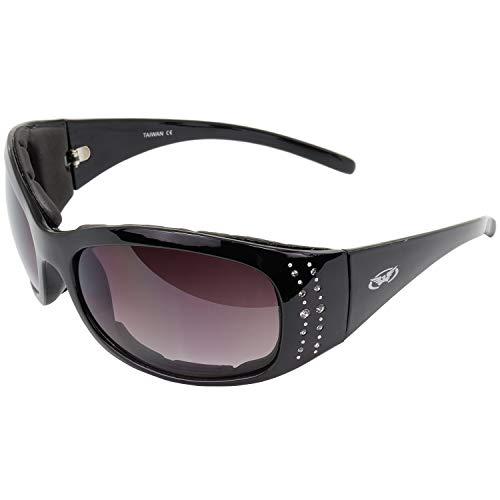 Global Vision Eyewear Marilyn 2 Plus Women's Foam Padded Riding Sunglasses Black Frame