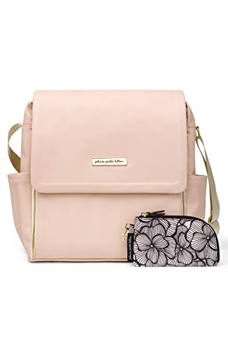 Petunia Pickle Bottom Boxy Backpack | Diaper Bag | Diaper Bag Backpack for Parents | Top-Selling Stylish Baby Bag | Sophisticated and Spacious Backpack for On The Go Moms | Blush Leatherette