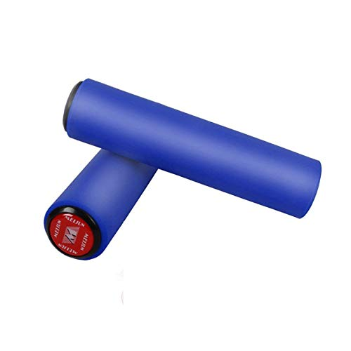 Uniqueheart 2Pcs MTB Bicycle Handlebar Silicone Grip Cover Mountain Bike Bicycle Grip Silicone Case Cover 130Mm Long