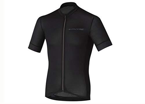 S-PHYRE maglie road cycling jersey maniche corte nera