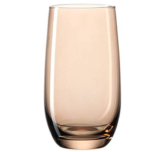 Leonardo Sora Lot de 6 grands verres à eau lavables au lave-vaisselle Plusieurs couleurs, marron, Grand modèle