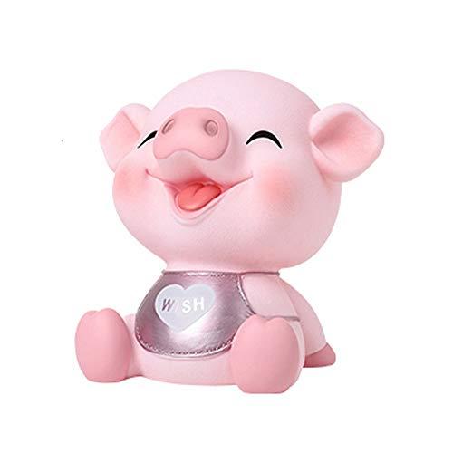 ZAKRLYB Piggy Bank, Material de Vinilo para niños, Niño y niña Tarro de Monedas, Lavable Resistente a la Rotura Juguete Lavable Regalo Piggy Jar Sala Sala de Aprendizaje Sala de Aprendizaje Baby Room