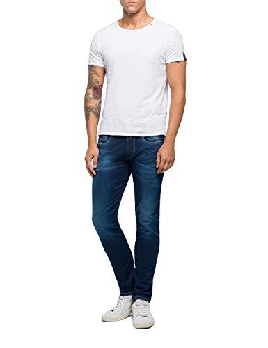 Replay Herren Anbass Jeans, Blau (Dark Blue 7), W27/L30 (Herstellergröße: 27)
