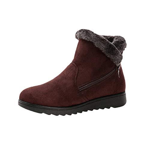 Botas de Tobillo de Mujer Botas de Nieve de Invierno cálido Zapatos...