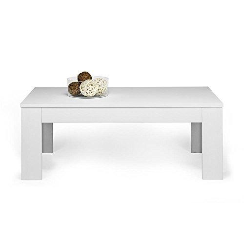 Mobilifiver Easy Tavolino da Salotto, Legno, Frassino Bianco, 100.0x55.0x40.0 cm