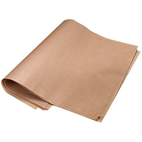 50 hojas de papel de pergamino Hojas de papel precortado para hornear de alta resistencia Papel de Horno Antiadherente y Apto para lavavajillas para hornear cocinar asar freidora de aire y cocinar