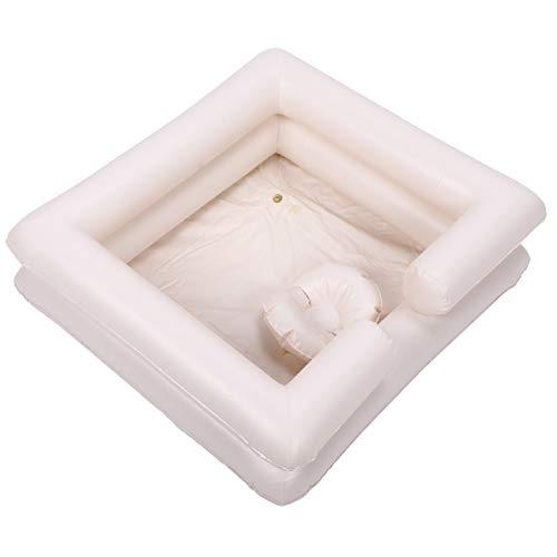 Les-Theresa PVC Kit de lavabo de champú inflable portátil para ancianos discapacitados lavabo de lavado de cabello para embarazadas