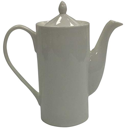 Théière en porcelaine blanche Théière haute et fine capacité 800 ml